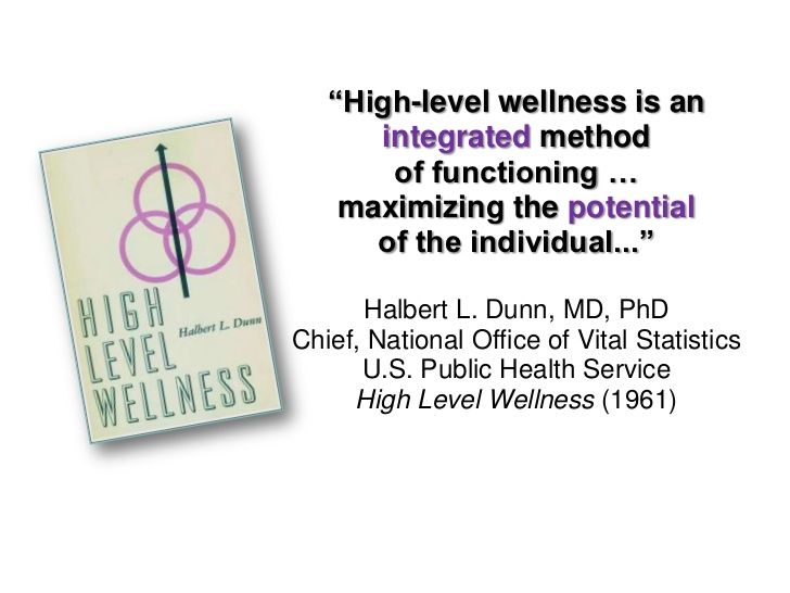 High Level Wellness book cover