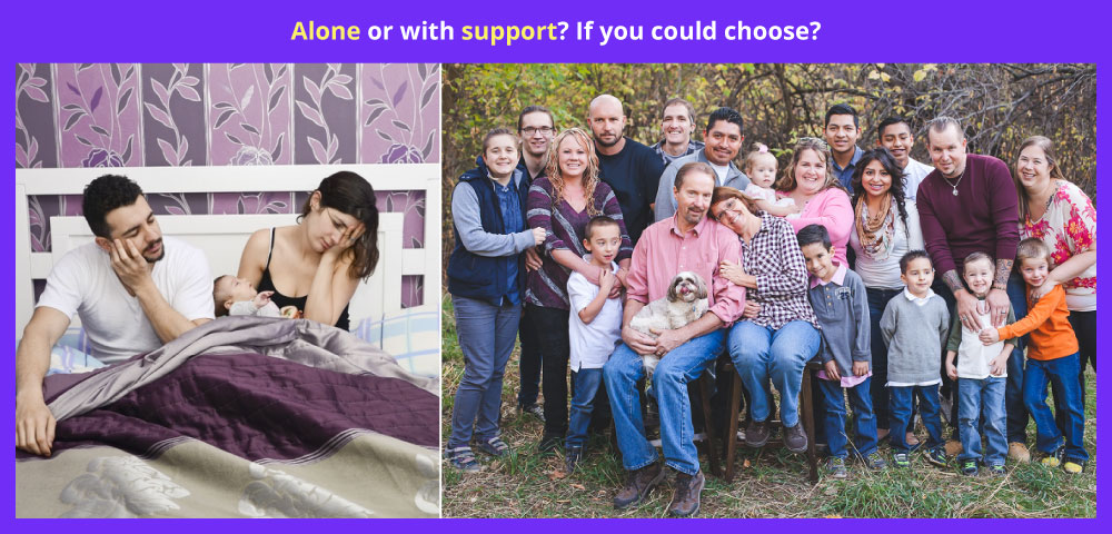 Alone or with support? If you could choose?